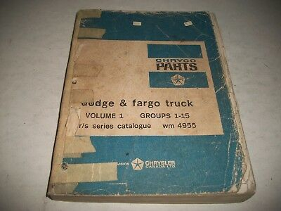 1961-1968 Dodge & Fargo R/s  Fr/ Fs  Trucks Illustrated Parts Catalog Volume 1