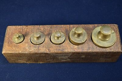 Set Of 5 Vintage Scale Weights
