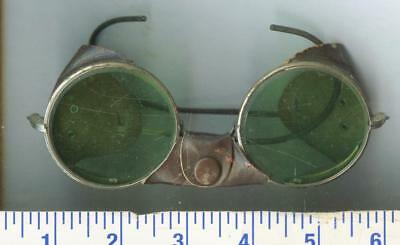 STEAMPUNK RARE AMERICAN OPTICAL Vintage Mens Motocycle Glasses WELDING Leather