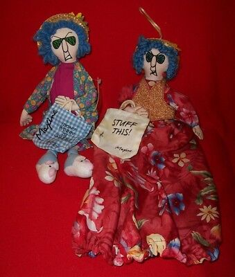 2 Hallmark Maxine Dolls, 'Don't Worry Be Crabby' and 'Stuff This'