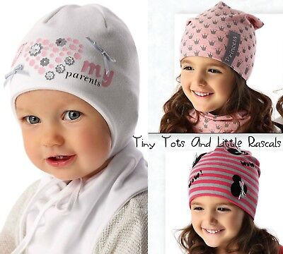 Baby Girls Toddlers Spring Autumn Cotton Elastic Beanie Hat Cap Size 0 - 8 years