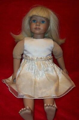 "Heidi Ott Doll Beth 19"", Blonde Hair Blue Eyes, Beautiful Condition"