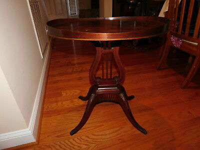 MERSMAN TABLES - Mahogany Oval Harp Table ~ 6651