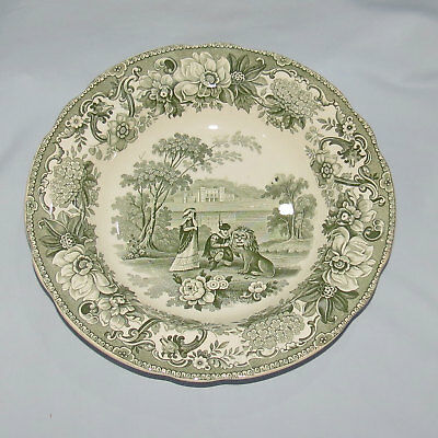 ANTIQUE COPELAND LATE SPODE THE LION IN LOVE BOWL c.1830
