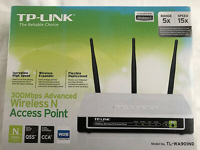 TP-Link 300Mbps Advanced Wireless N Access Point TL-WA901ND 1.1 Router