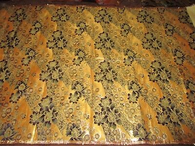 Super Rare Antique Japanese Silk Gold Brocade Textile Hanging Scroll Priest 2