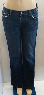 """7 FOR MANKIND Vintage Boot Cut Medium Wash Jeans Women's Size Large 12 - 14 32"""""""