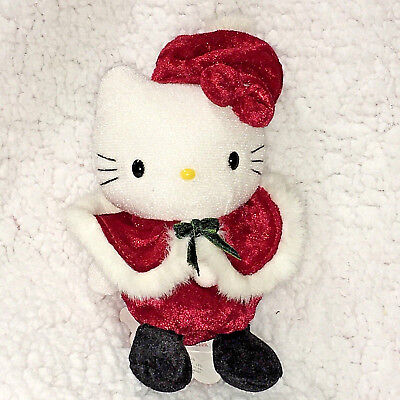 Hello Kitty Winter Mini Plush Sanrio Festive Red November Vintage 1999 NWT