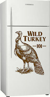 Wild Turkey Fridge, Bar, Bourbon Sticker Decal, 580 x 430mm