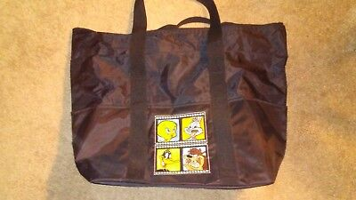 NEW HALLMARK LOONEY TUNES EMBROIDERED TOTE BAG Bugs Bunny Daffy Duck Tweety