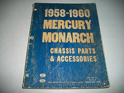 1958 1959 1960 Mercury & Monarch Chassis Parts & Accessories Parts Catalog Cdn