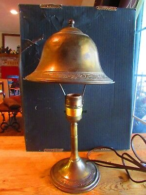 Antique brass Arts and Crafts desk lamp