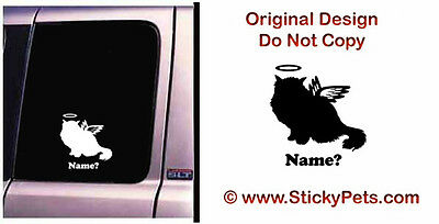 Cat Memorial Persian Halo Himalayan Angel Decal Sticker