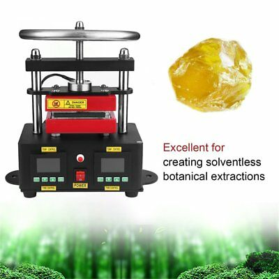 Electric Rosin Press Machine Stamper Manual Operation Double Plates Heating WR