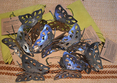 Mother's  Day Napkin Ring Set 8pc Nickle Plated Butterfly 9x9cm approx
