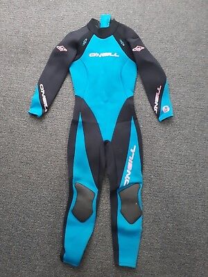 Ladies Wetsuit O'Neill blue and black size 12 3/2 mil