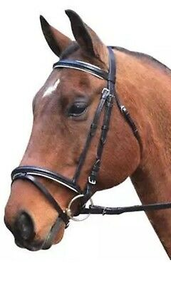 Horse Equestrian Eureka Leather Eventing Bridle & Reins Black Or Brown All Sizes