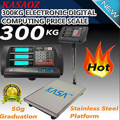 300kg  Electronic Virtual Computing Fee Scale Weight Store Postal Commercial