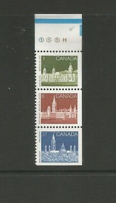 BOOKLET STRIP FROM 1187a  #938, 942, 1187  BLUE