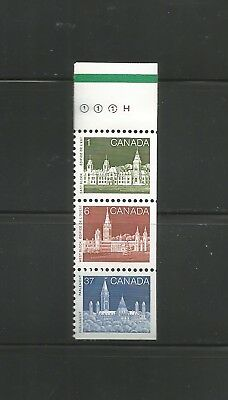 BOOKLET STRIP FROM 1187a  #938, 942, 1187  GREEN