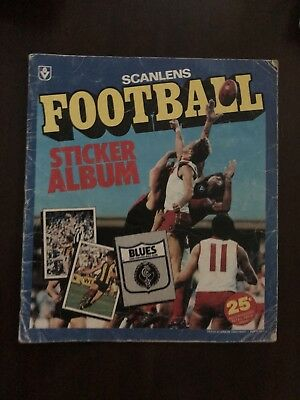 Scanlens Football Sticker Album 1983. Created By Scanlens Confectionary
