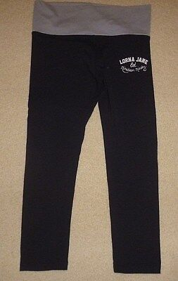 99c -LORNA JANE- BLACK- STRETCH- 3/4 PANTS-SZ S