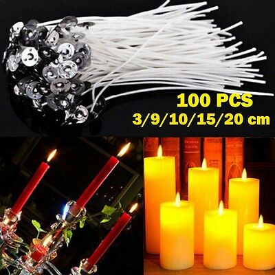 100pcs Candle Wicks Pre Waxed With Sustainers Cotton DIY Candle Making Tools