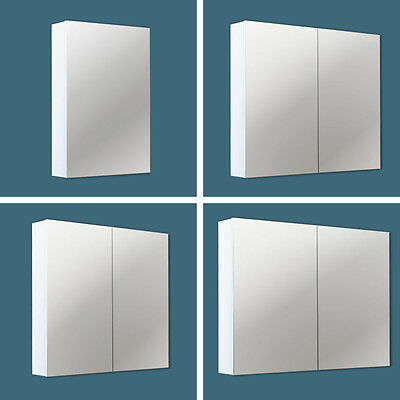 Pencil Edge Mirror Shaving Cabinets SCP 450 / 600 / 750 / 900 x 720 x 150mm