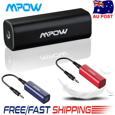 Mpow Ground Loop Noise Isolator Car Audio System Stereo 3.5mm Bluetooth Receiver