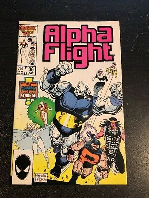 Alpha Flight#36 Incredible Condition 9.4(1986) Avengers, Dr.Strange, David Ross!