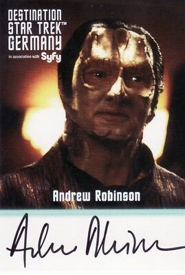 Destination Star Trek Germany 2013 Ultra Rare Andrew Robinson as Garak Auto Card