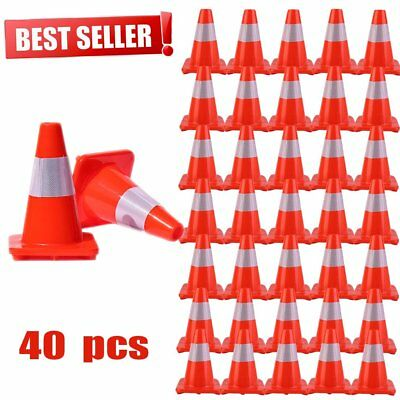 12'' 18'' Reflective Red Wide Body Safety Cones Construction Traffic Sports LOT