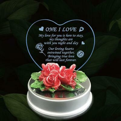 Led Light His Her Anniversary Birthday Mum Girlfriend Boyfriend Wife Gift