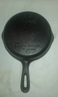 "Vintage Wagner Ware  Cast Iron Skillet 6-1/2""  ""R"" MADE IN THE USA FREE SHIPPING"