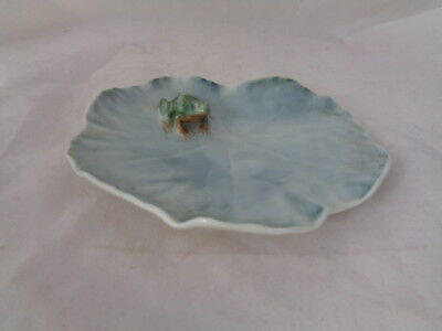 11Cms Diameter Royal Copenhagen Dish Frog On Lilly Pad 2477 -  Excellent