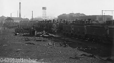 Victorian Railways Steam Panoramic View Newport Workshops Scrapping Area 1920's