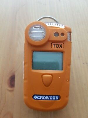 Crowcon gas detector TOX orange colour