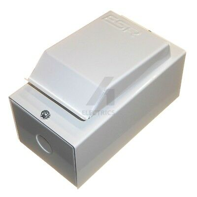 Small Compact 2 Module Metal Enclosure with DIN Rail and Earth Bar 145 x 80mm