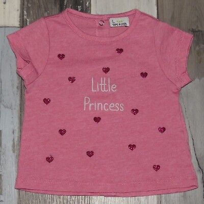 "~ Tee-shirt MC rose TAPE A L'OEIL Taille 3 mois ~ ""LITTLE PRINCESS"""