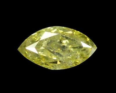 0.39 Carat Fancy yellow I1 marquise  Natural Diamond For Ring 5.93x3.32x2.51mm
