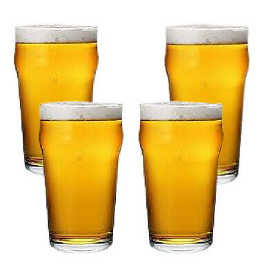 Nonic pint glasses set of 4
