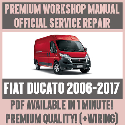 WORKSHOP MANUAL SERVICE & REPAIR GUIDE for FIAT DUCATO 2006-2017 +WIRING