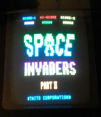Original Taito Space Invaders Part II (aka Deluxe)Arcade game pcb WORKING