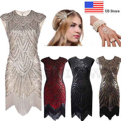 1920s Flapper Dresses Great Gatsby Party Evening Prom Roaring 20s Cocktail Dress