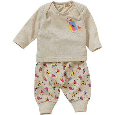 Lullaby Baby Girls Boys Cute Chick Bird Tweeting Hearts Print Pyjamas 0-9mths