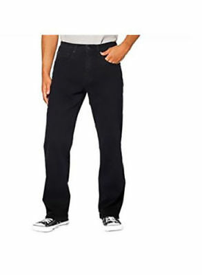 Urban Star Mens Relaxed Fit Straight Leg Jeans 38x29 Black