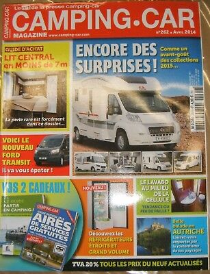 Camping Car N° 262 2014 Lit central Ford transit Lavabo Frigo Guide aire service