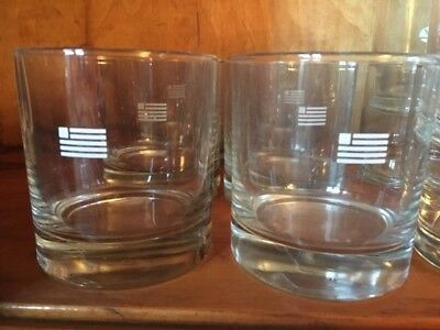 USAir Logo Drinking Cocktail Glasses 4oz Addition to your bar glass collection