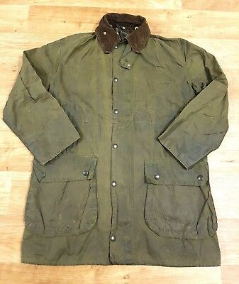 Mens Barbour A200 Border Wax Jacket Green Size C40 102cm  #C4