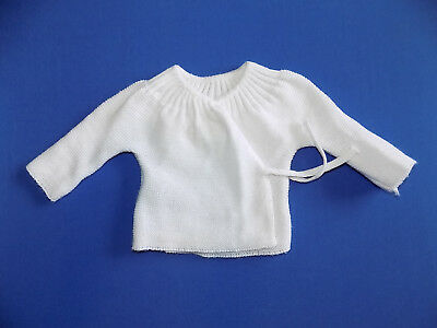 Brassiere Bebe Tricotee Taille Naissance / 1 Mois Blanche